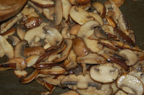 saute mushrooms in batches in butter until browned..