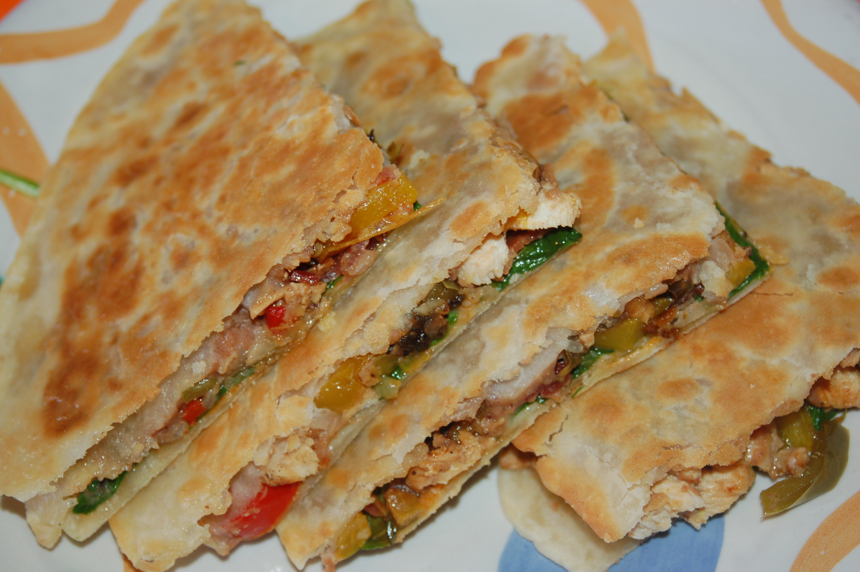 Chicken Quesadillas (serves 4) | Crappy Kitchen - Good Dinners!