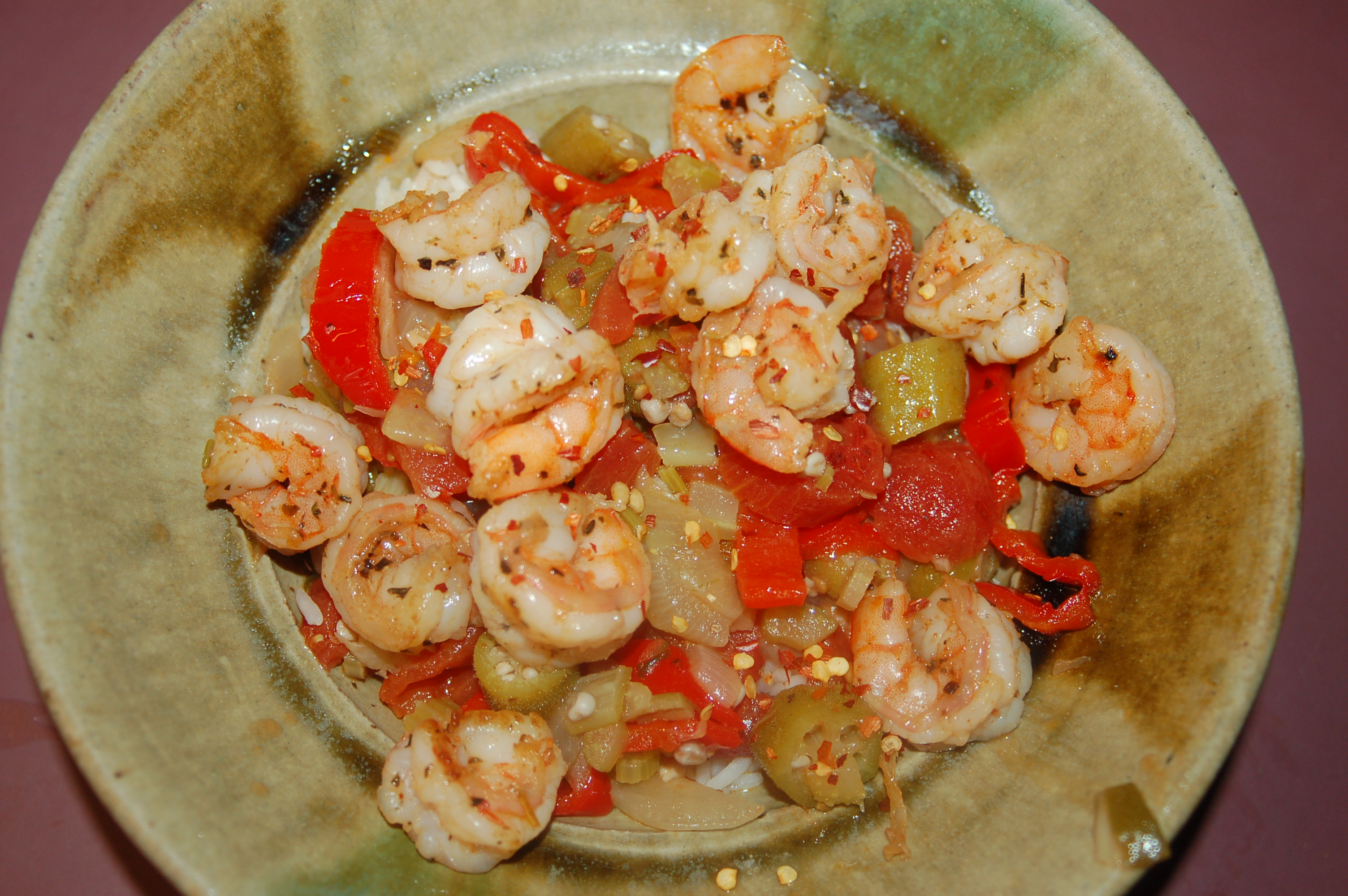 "Gumbo Style"" Shrimp & Okra (serves 4) 