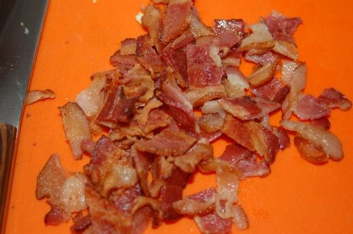 Fry bacon.