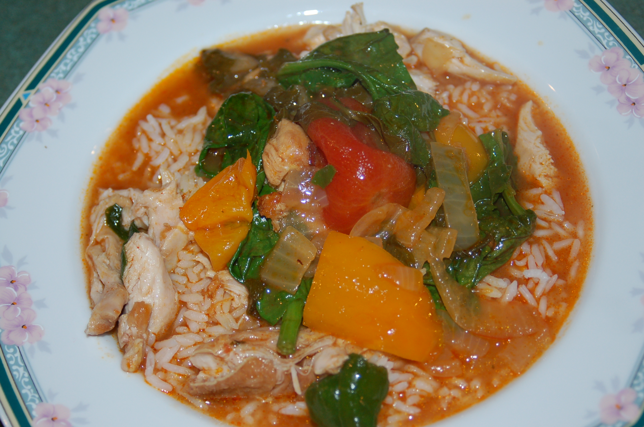 hungarian chicken stew with spanish heat serves 6