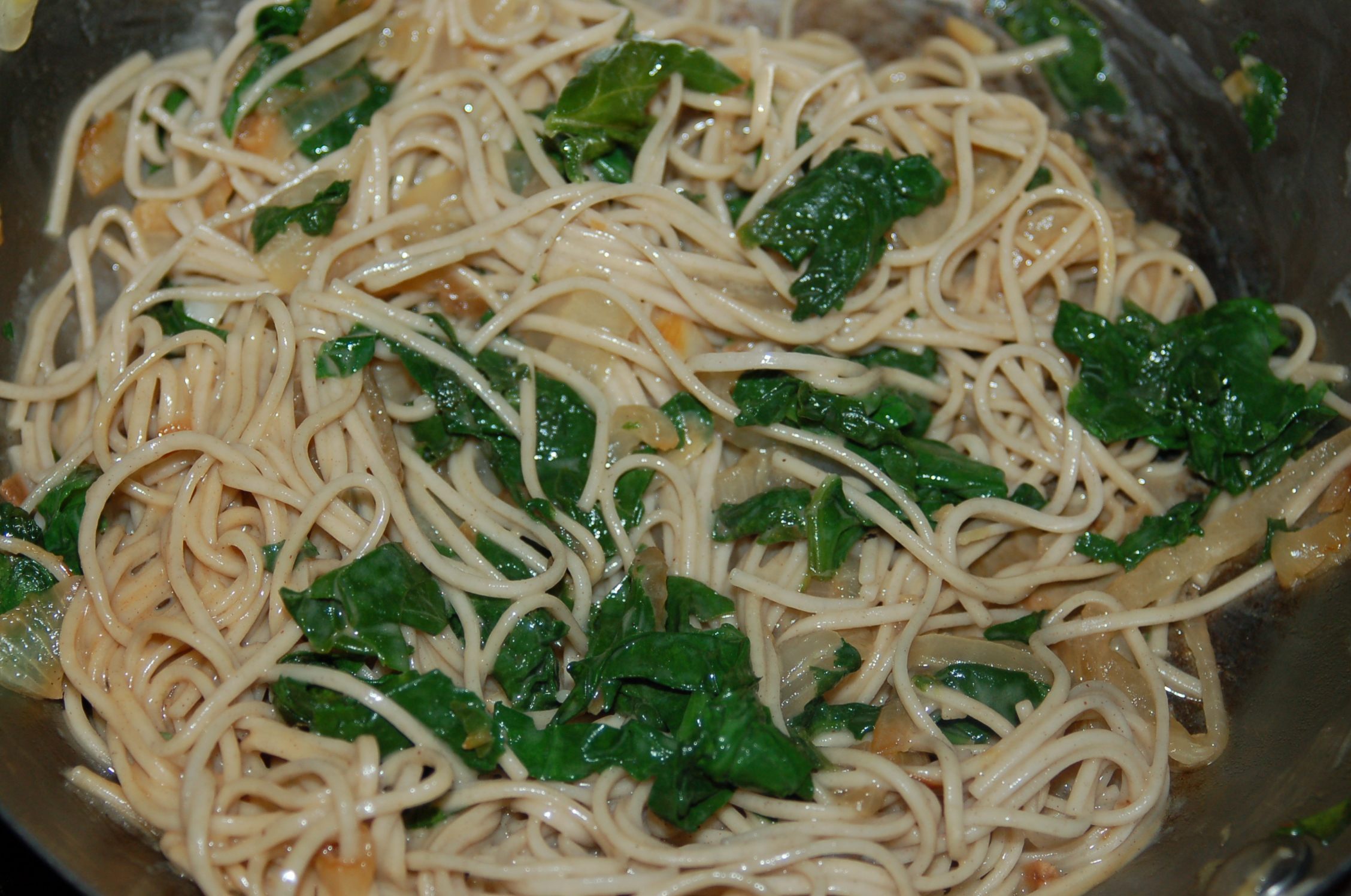 Soba Noodles with Spinach & Peanut Sauce (serves 2) | Crappy Kitchen ...