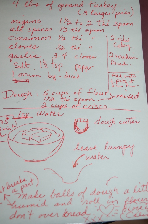 Celeine's specific instructions!