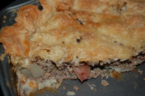 A close look at Celine's Famous Meat Pie