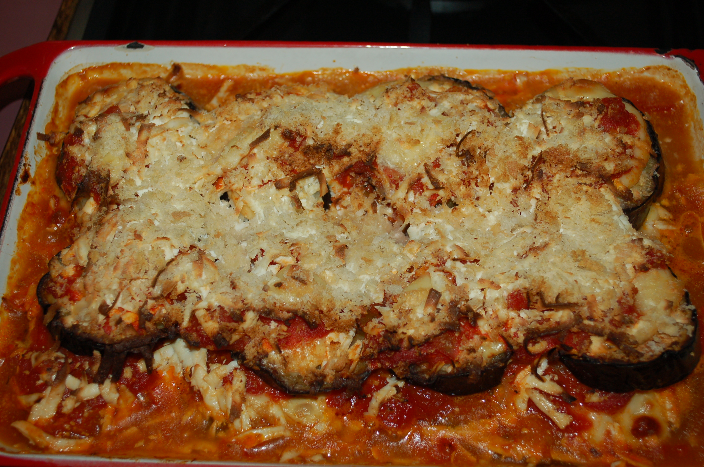 bake kitchen bitch eggplant mozzarella and saffron rice bake saffron ...
