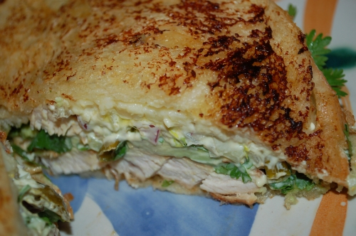 "Turkey Melt with Hot ""Slaw"""