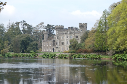 Johnstown Castle and Gardens built right at the time Jane Austin wrote how the Bennett sisters would tromp over hill and dale in all weathers
