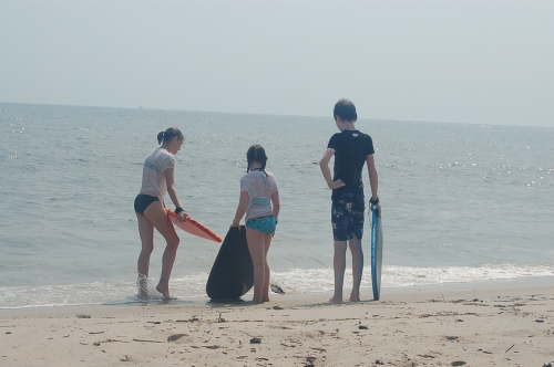 Let's try the boogie boards