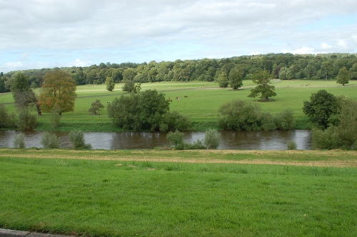View of the river from the manor