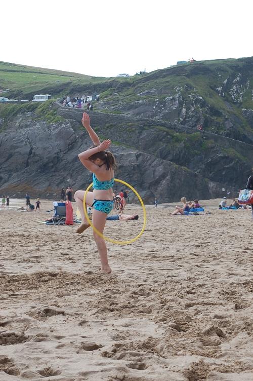 fun with a hula hoop