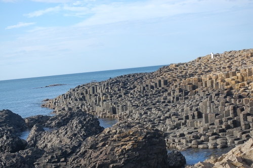 The polygonal columns of the Giant's Causeway