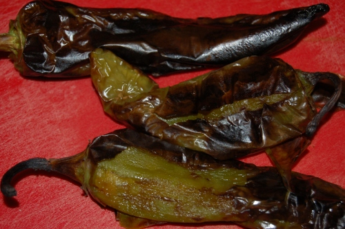 Smoky grilled peppers
