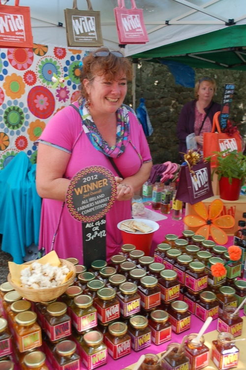 Fiona Selling her homegrown products