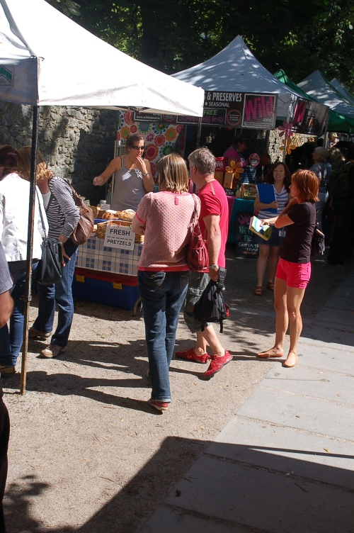 the food market by the castle gates in Kilkenny city