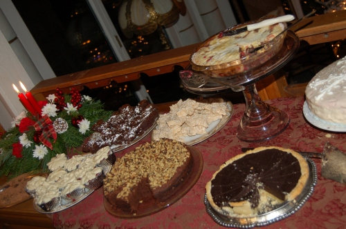 A small selection of cakes at the party - yum!