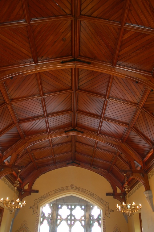 newly restored ceiling in the Chapter house at St. Mary's