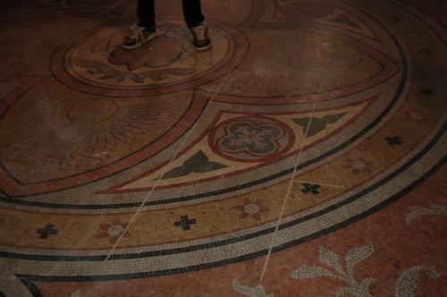 the mosiac tiled floors hidden for 50 years