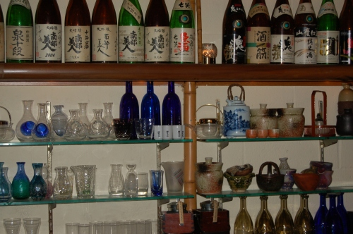 sake & beautiful glass teapots