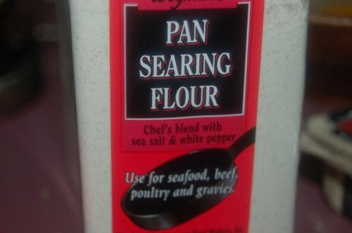 pan searing flour