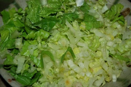 chop romaine lettuce