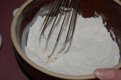 Whisk dry ingredients together