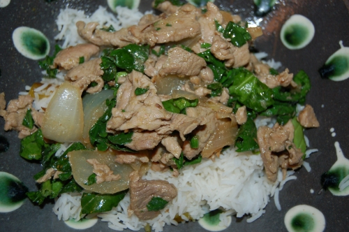 Indian-Inspired pork stir-fry