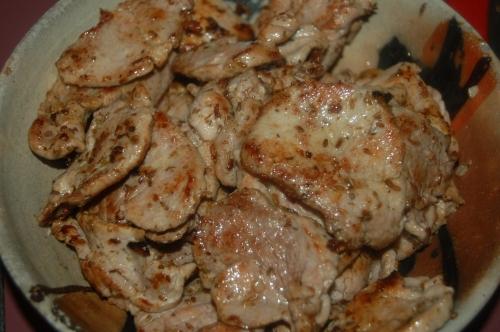 succelent pork tenderloin with garlic, cumin, oregano adn olive il