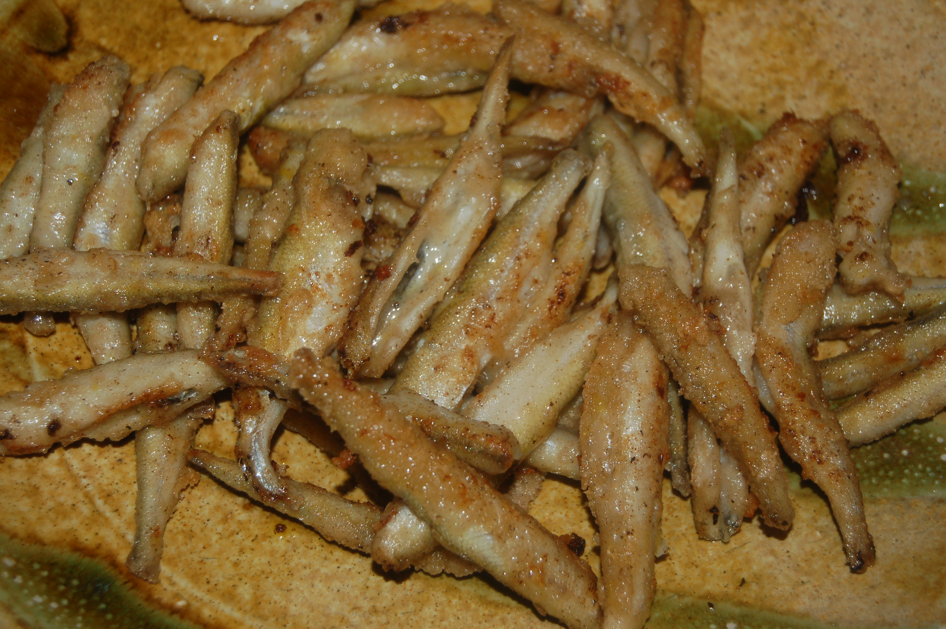 Crispy Lemon Fried Smelts with Carrot And Parsnip Fries (serves 4)