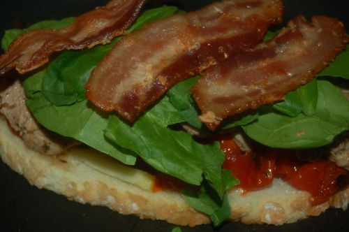 bacon added for the fatty pork flavor