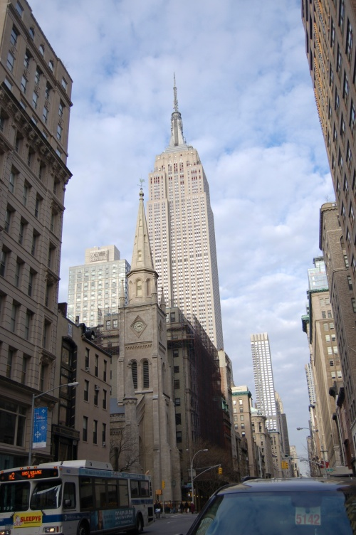 The magestic Empire State as I neared Kalustayan's