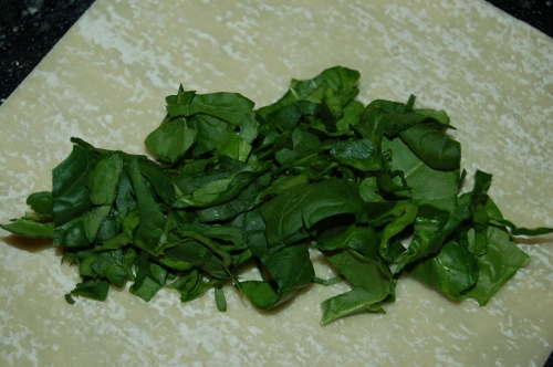 Or raw greens on the botton such as chopped spinach or cilantro