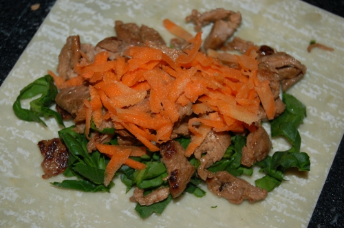 top with grated crunchy carrots