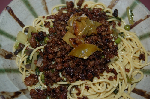 Spicy Crispy-Fried Beef with Noodles