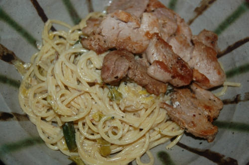 this can also be made with pork tenderloin slices using exactly the same method