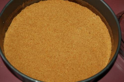 press base mixture into springform pan