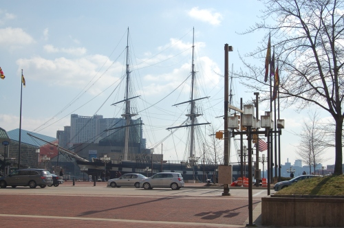 Approacing the Inner Harbor from Pratt Street in Baltimore, Maryland
