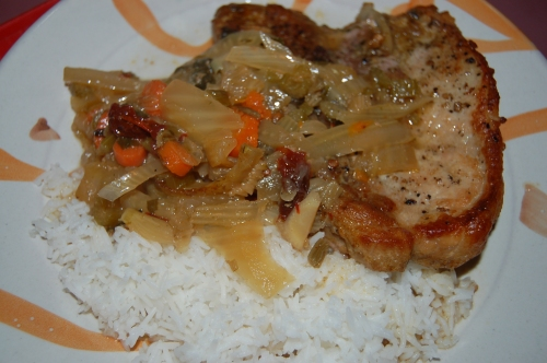 Roasted Pork Chops With Fennel (with basmati rice)