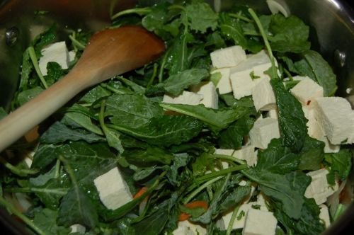 Add Kale, then tofu