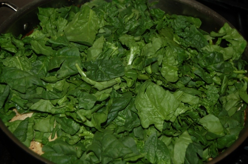 Add spinach