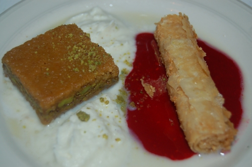 Middle Eastern Pastries (a cardamum cake and a version of baklava - unbelievable!