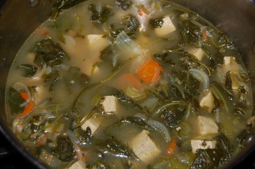 Warming Kale And Tofu Soup