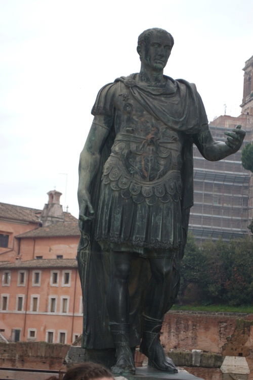 Statue of Julius caesar outside the Roman Forum in Rome