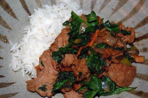 We had this with basmati rice