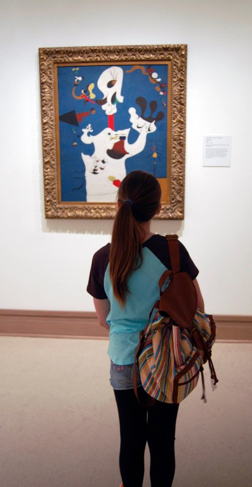 What my daughter liked in the modern painting Wing
