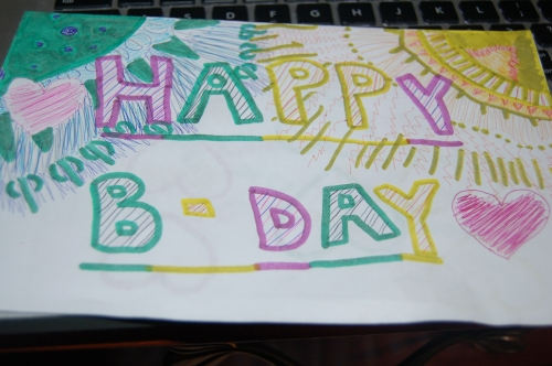 my birthday (card from my daughter)
