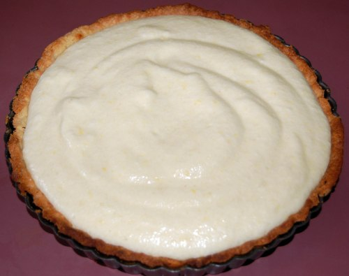 place filling in tart shell