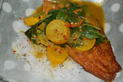Catfish Curry (for Blood Type A Diet Followers)