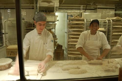 John making bread with a fellow bread man!