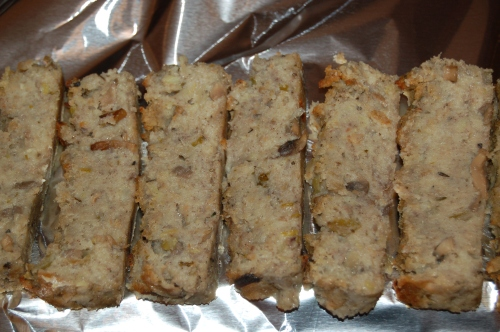 Before reheating, slice and place in foil