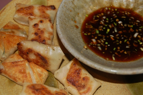 wontons with a great dipping sauce